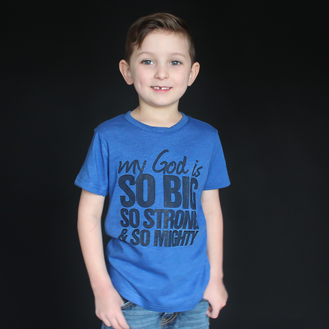 """My God Is So Big"" Unisex Fit Tee - The Talking Shirt"