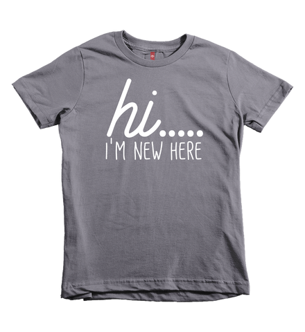 """hi...I'm new here"" Unisex Fit Tee - The Talking Shirt"