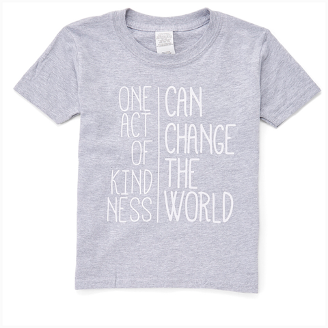 """One Act of Kindness Can Change the World"" Youth Unisex Fit Tee"