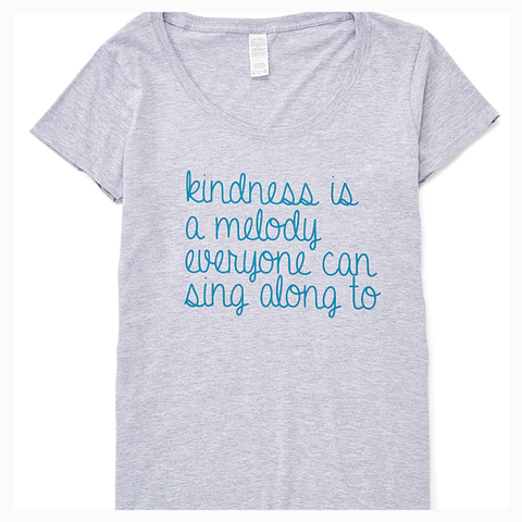 """Kindness is a Melody"" Women's Scoop Neck Tee"