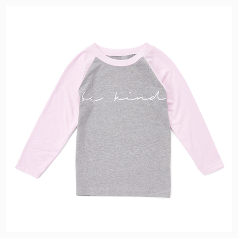 """Be Kind"" Youth Raglan"