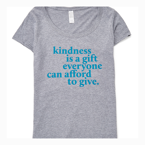 """Kindness is a Gift"" Women's Scoop Neck Tee"