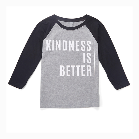 """Kindness is Better"" Youth Raglan"
