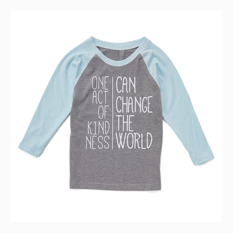 """One Act of Kindness Can Change The World"" Youth Raglan"