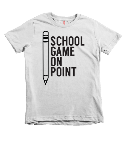 """School Game On Point"" Unisex Fit Tee - The Talking Shirt"