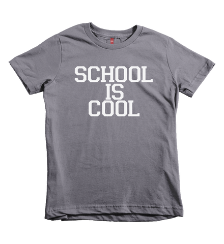 """School Is Cool"" Unisex Fit Tee - The Talking Shirt"