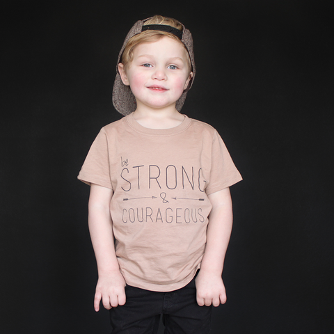"""Be Strong And Courageous"" Unisex Fit Tee - The Talking Shirt"