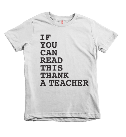 """Thank a Teacher"" Unisex Fit Tee - The Talking Shirt"