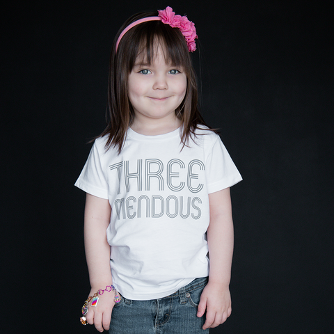 """Three-mendous"" Unisex Fit Tee - The Talking Shirt"