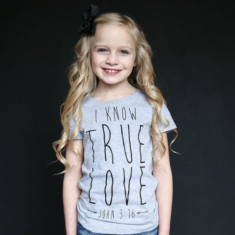 """I Know True Love"" Fitted Tee - The Talking Shirt"