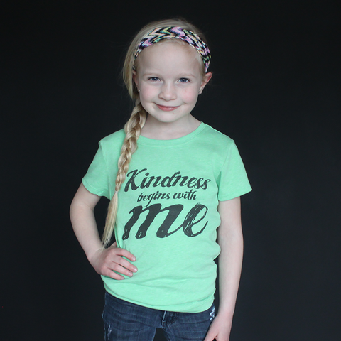 """Kindness Begins With Me"" Fitted Tee - The Talking Shirt"