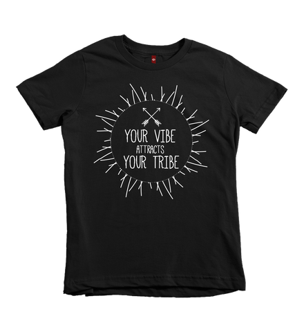 """Your Vibe Attracts Your Tribe"" Unisex Fit Tee"