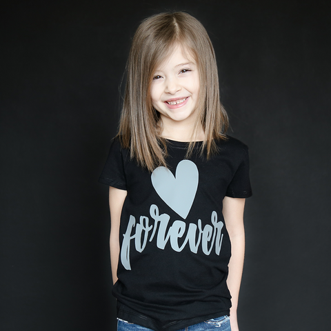 "Black and Gray ""Forever"" Fitted Tee - The Talking Shirt"