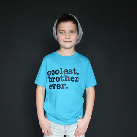 """Coolest Brother Ever"" Tee - The Talking Shirt"