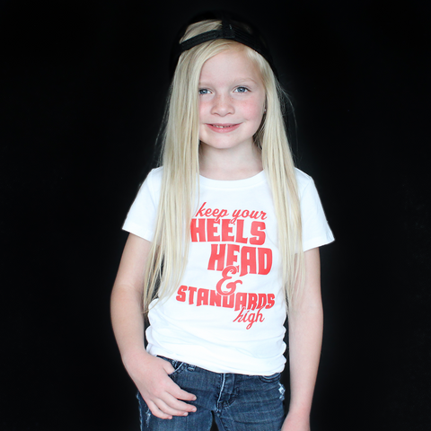 """Head, Heels & Standards"" Fitted Tee - The Talking Shirt"