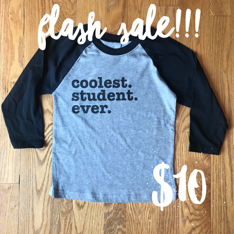 Flash Sale!!!! Coolest Student Ever Raglan Youth-Adult