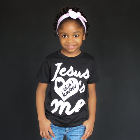 "Black and White ""Jesus Loves Me"" Unisex Fit Tee - The Talking Shirt"