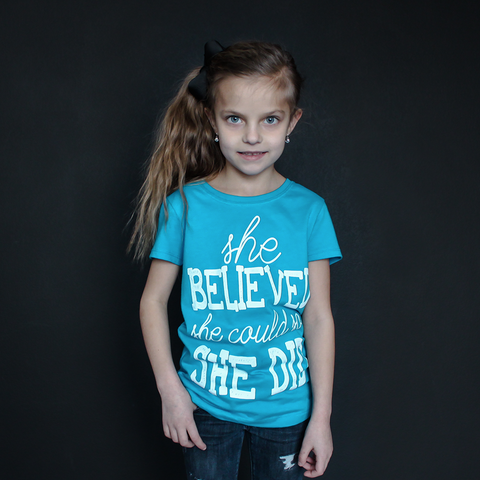 """She Believed She Could So She Did"" Fitted Tee - The Talking Shirt"