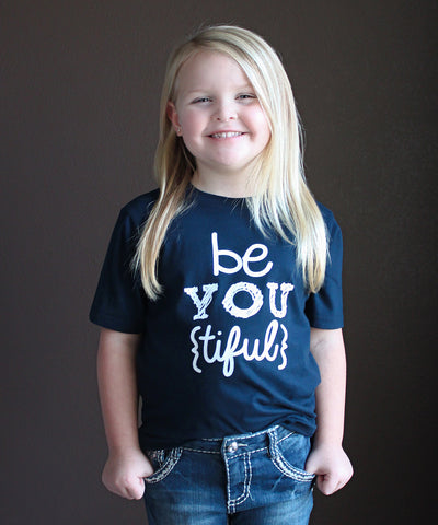 """Be You"" Girl's Fitted Tee"