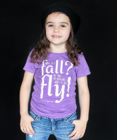 """What if you Fly"" Girl's Fitted Tee"