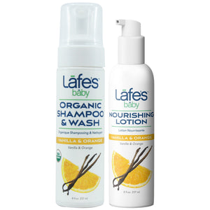 Load image into Gallery viewer, Lafe's Baby Organic Shampoo + Lotion Duo - Vanilla & Orange