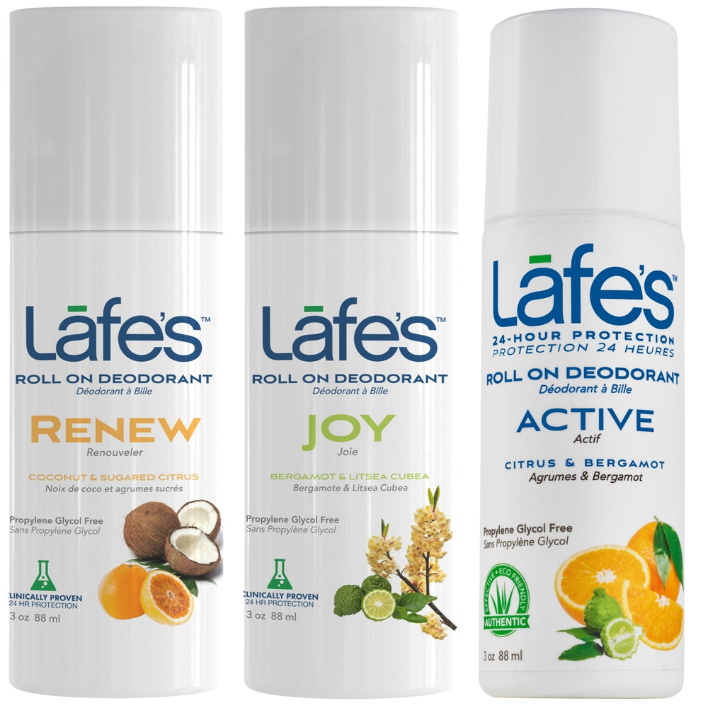 Lafe's Deodorant Roll On - Citrus Love Variety 3 Pack