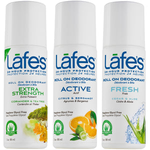 Lafe's Deodorant Roll On - Men's Variety 3 Pack