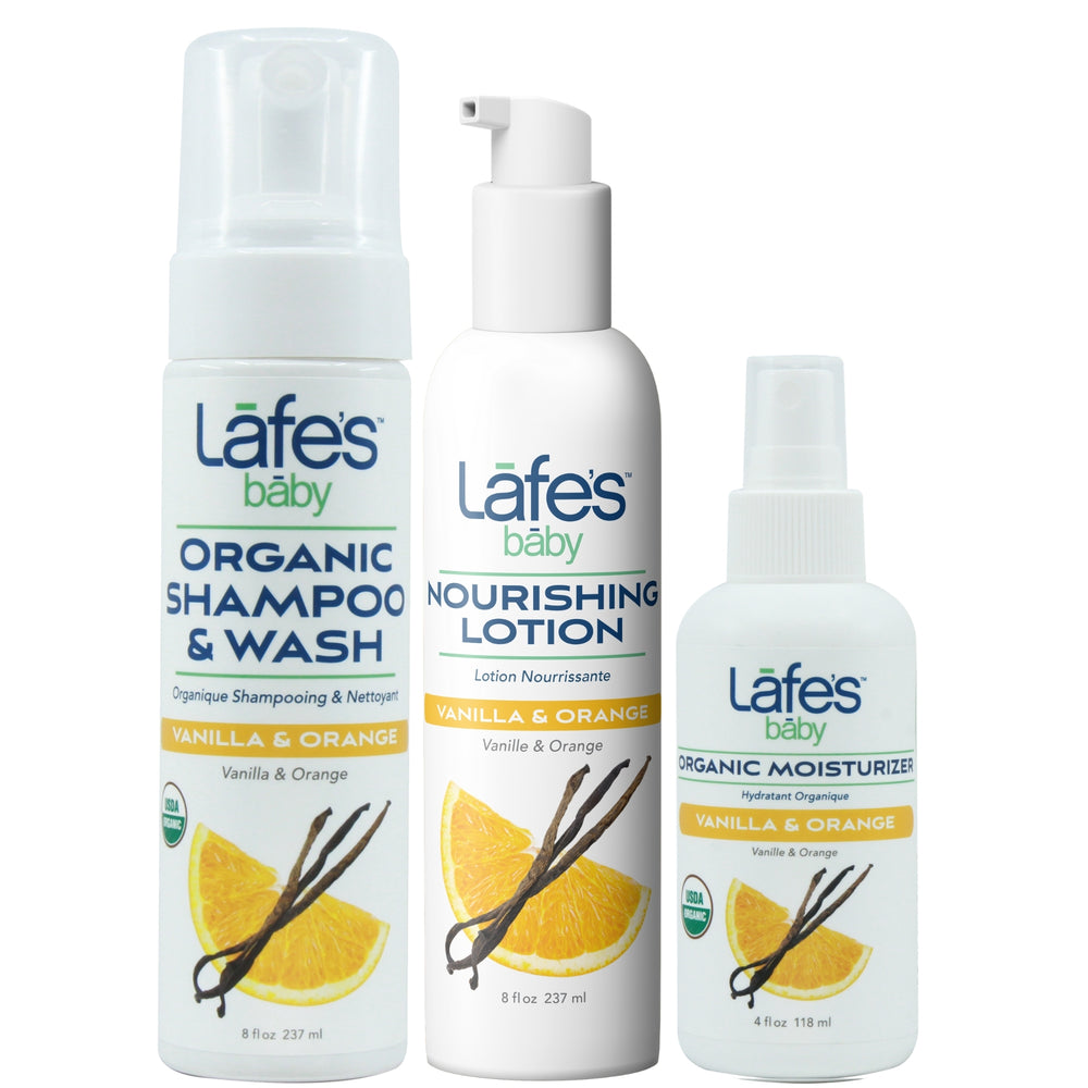 NEW Lafe's Baby Nourishing Tubtime Set - Vanilla & Orange