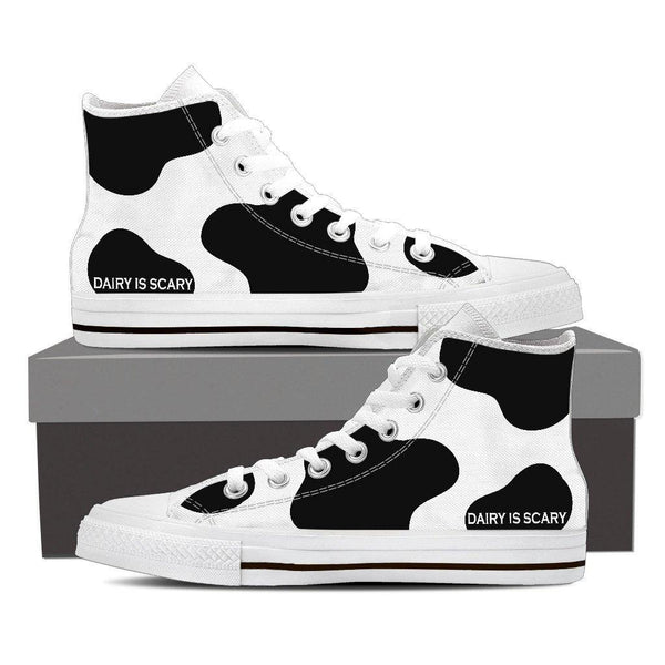 Holy Cow! Canvas Shoes in Low or High Top