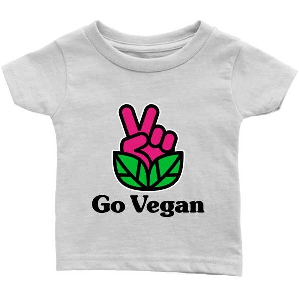 Go Vegan Revolution Magenta Logo With Text Shirt (Infant)