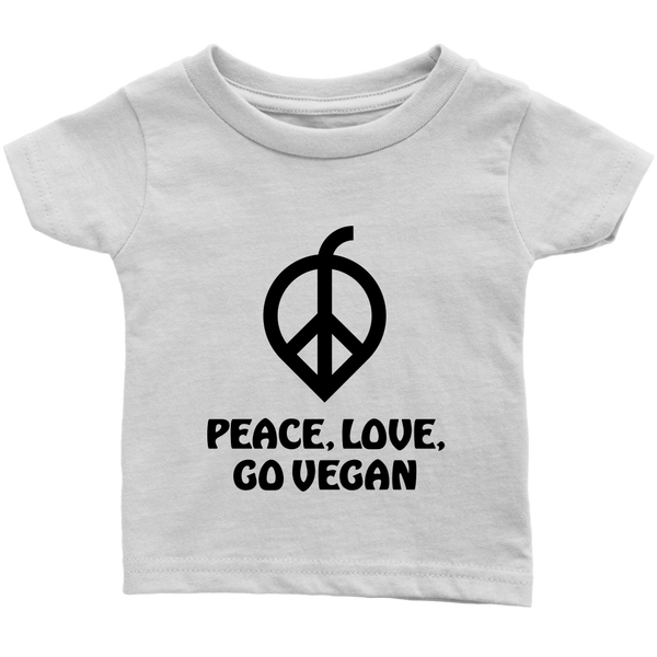 Peace, Love, Go Vegan Shirt (Infant)