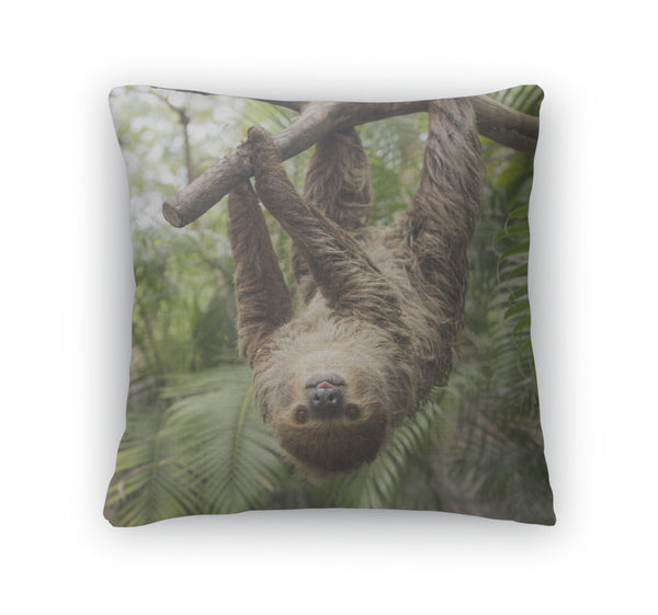 Sloth Throw Pillow Case