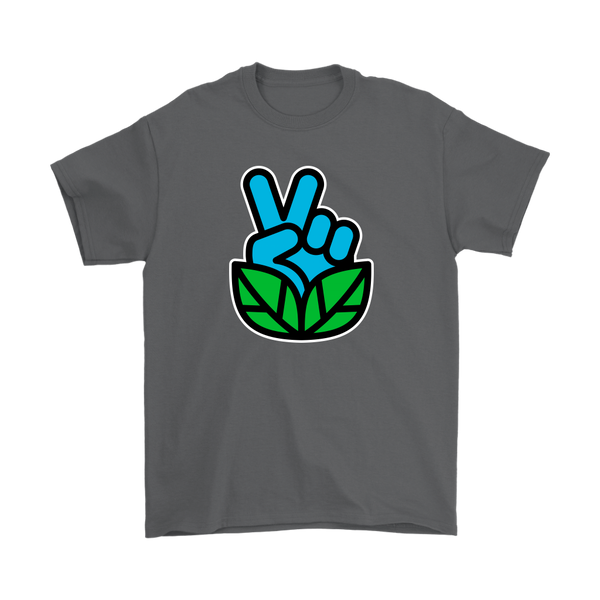 Go Vegan Revolution Blue Logo Shirt (Mens) - Go Vegan Revolution