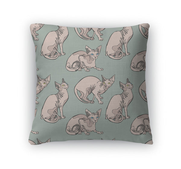 Sphynx Cat Throw Pillow Case