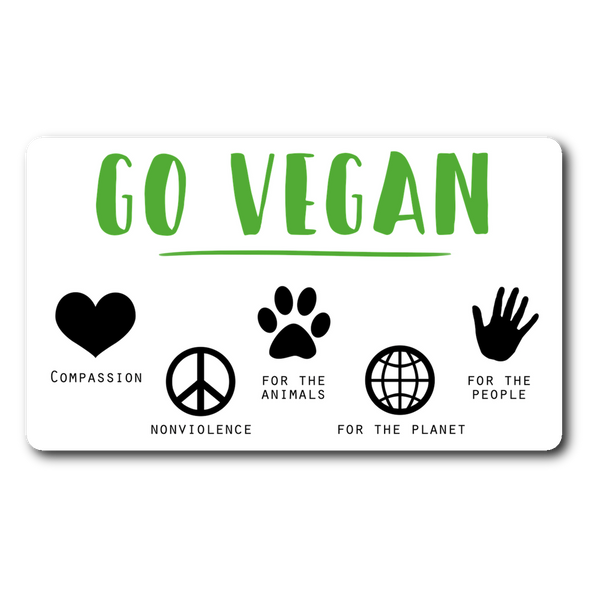 Go Vegan for (So Many!) Reasons Sticker - Go Vegan Revolution