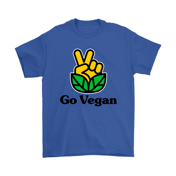 Go Vegan Revolution Yellow Logo With Text Shirt (Mens)