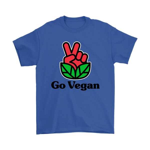 Go Vegan Revolution Red Logo With Text Shirt (Mens)