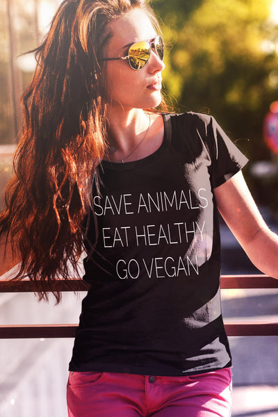 Save Animals, Eat Healthy Shirt (Womens and Unisex)