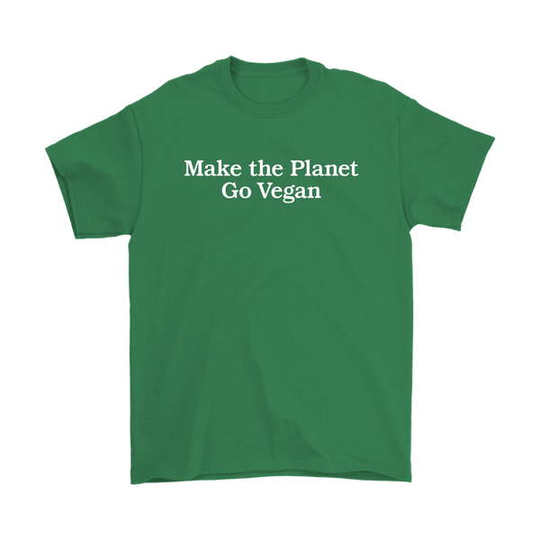 Make The Planet Go Vegan Shirt (Mens)
