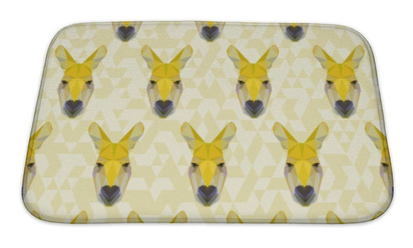 Abstract Kangaroo Pattern Floor Mat
