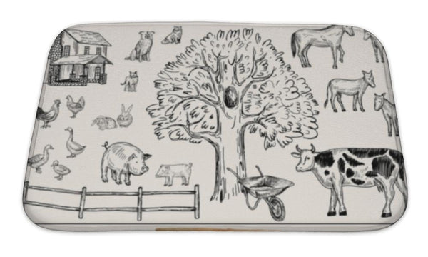 Sanctuary Farm Animals Floor Mat