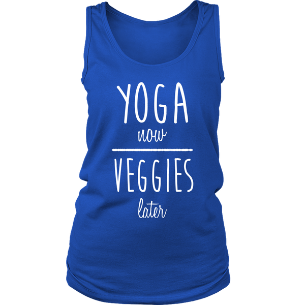 Yoga Now, Veggies Later - Tank Top