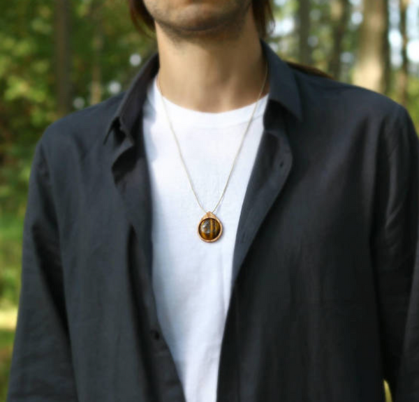Tiger's Eye Protection Amulet Necklace