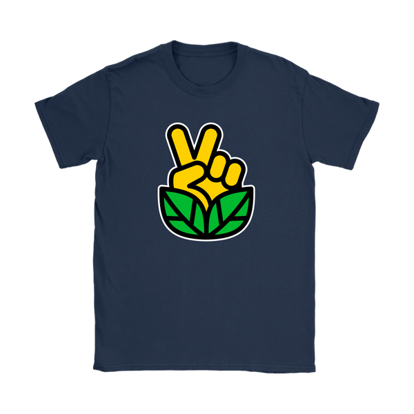 Go Vegan Revolution Yellow Logo Shirt (Womens) - Go Vegan Revolution