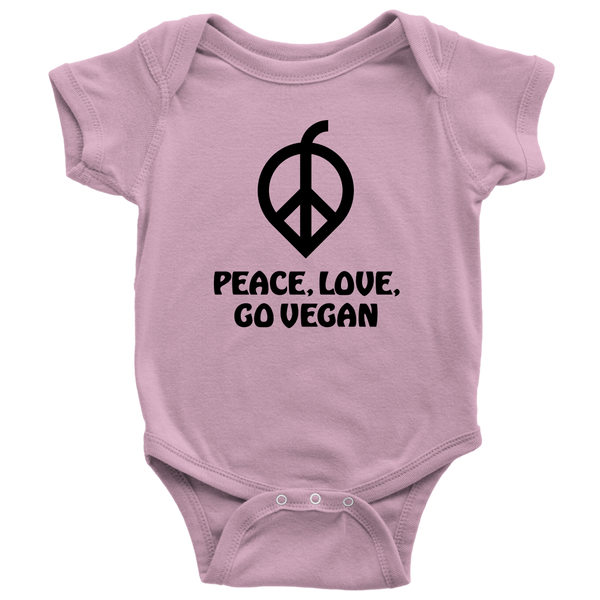 Peace, Love, Go Vegan Onesie