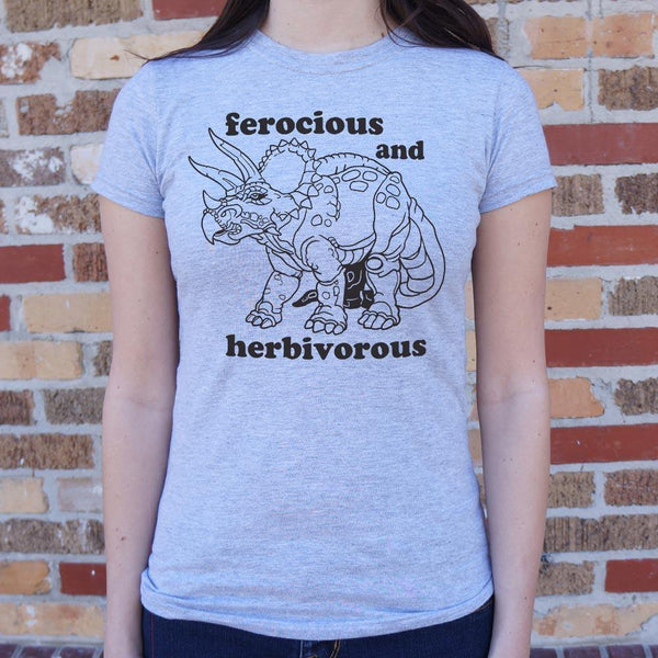 Ferocious And Herbivorous Shirt (Womens)
