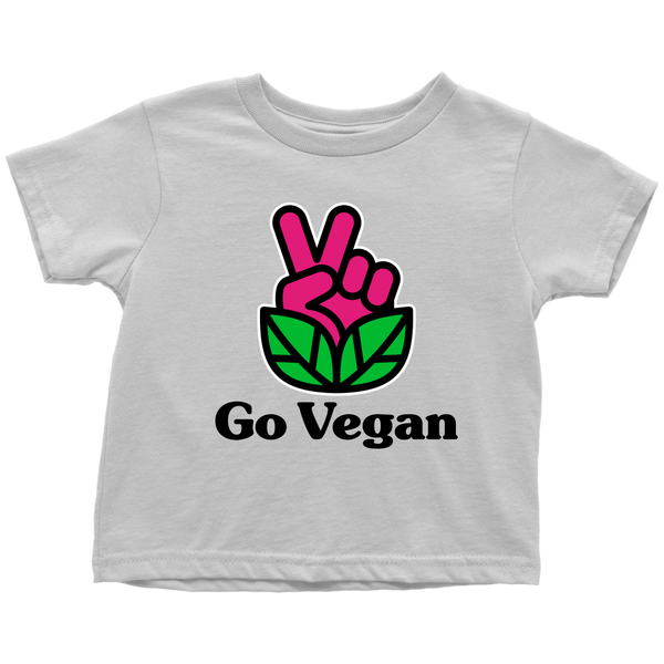 Go Vegan Revolution Magenta Logo With Text Shirt (Toddler)