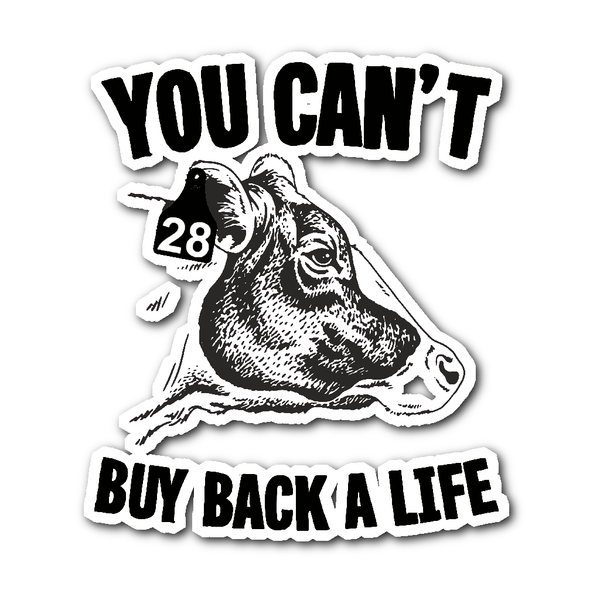 Stickers - Can't Buy Back A Life - Sticker