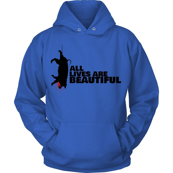 T-shirt - All Lives Are Beautiful - Hoodie (Black Print)