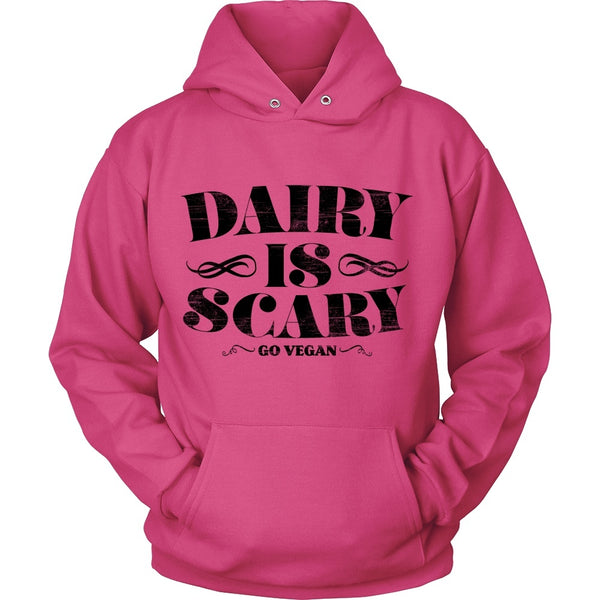 T-shirt - Dairy Is Scary - Hoodie (Black Print)